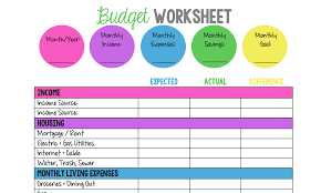 Monthly Family Budget Worksheet 14 Easy To Use Free Budget Templates Gobankingrates