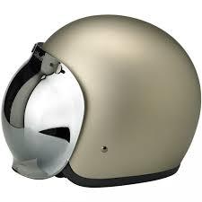 biltwell bubble visor chrome mirror