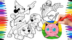 Do you love superheroes coloring book pages superman spiderman, this video is about disney coloring book spiderman episode. Phenomenal Cartoon Character Coloring Book Picture Ideas Axialentertainment
