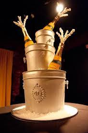 40th Champagne Birthday Cake Birthday Cakes Champagne Cake