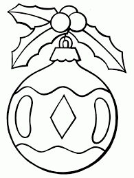 Small Picture Christmas Ornament Coloring Pages Printable Coloring Home