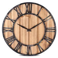 vintage style clock. Beautiful Style European Vintage Style Wall Clock Round Solid Wood Metal Retro  Big Art Gear Roman To X