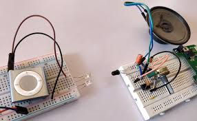 ir based audio transmitter and receiver circuit