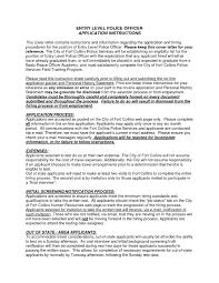 Police Officer Resume Examples Sample Resume Entry Level Police Officer Copy Cover Letter Design 52