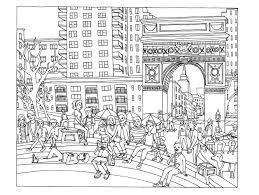 Exploring The Pages Of Color This Book New York City Coloring Free Coloring Pages Print City Scene Coloring Page L