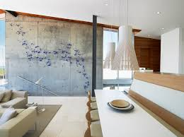 wooden wall art diy dining room modern with concrete wall pendant lights long beach