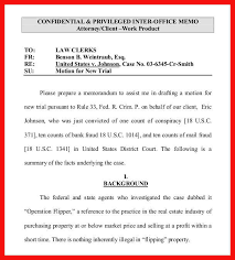 Memo Template Custom Legal Memorandum Template Apa Example
