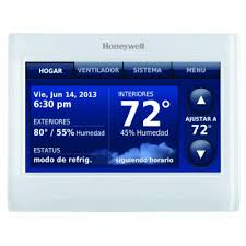 thx9421r5021ww c2 jpg 2 wire iaq high definition color touchscreen white front white side thermostat redlink
