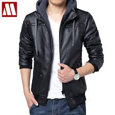 2019 2017 winter removable hooded coat mens hoody jackets outwear slim fit leather jacket man transverse leather coats from feiyancao 61 73 dhgate com