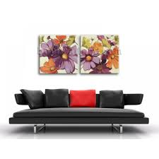 Modern Art Bedroom Large Oil Canvas Modern Abstract Floral Painting Bedroom Wall Art