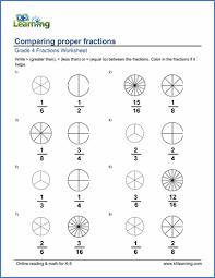 Grade 4 Fractions Worksheets Free Printable K5 Learning