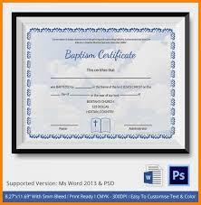 12 Baptismal Certificate Templates Utah Staffing Companies
