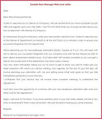 Welcome Email For New Hire Sample Letter To Our Company Examples