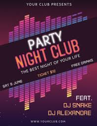 Customize Amazing Party Flyers In Minutes Postermywall