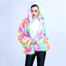 rainbow fur coat rave faux fur coat rainbow rainbow fur parka coat asos rainbow fur coat