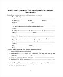 Standard Employment Contract Form Template Agreement Sample – Gocollab