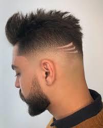 Corte de cabelo masculino com 2 risco lateral. Cortes De Cabelos Masculinos Degrade Com Risco Novocom Top