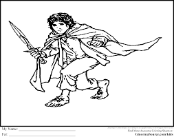 The Hobbit Coloring Pages Bilbo Baggins Coloring Pages Pinterest