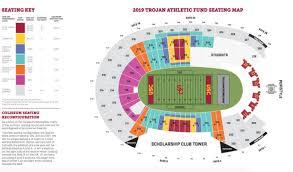 Coliseum Renovation Seating Chart Usc Football Stadium Map Sears Auto Center Bellevue