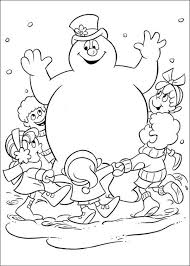 Free Printable Frosty The Snowman Coloring Pages Dibujos Pa