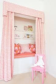 adorable pink kids reading nook calm casa kids