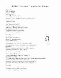 Medical Records Technician Resume Adorable Health Unit Coordinator Resume Awesome Sample Medical Records Clerk