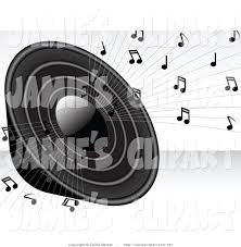 music speakers clipart. clip art of a loud black radio speaker blaring loudly with music notes speakers clipart o