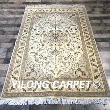 hand knotted wool rugs traditional rug exquisite thin soft oriental silk carpet wy2072s from india