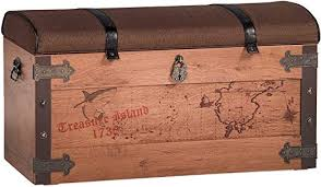 Cilek 20.13.1901.00 Pirate Toy <b>Storage Chest with Cushion</b>, Brown ...