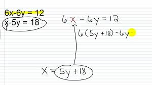algebra i help solving systems of linear equations with substitution 1 2 you