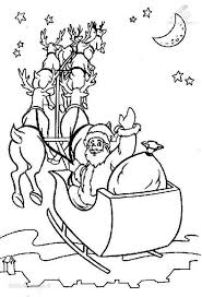 Santa Sleigh Coloring Pictures : Santa Coloring Pages For Kids ...