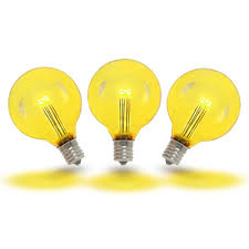 Plastic Light Globe Replacement Details About 25 Pack G40 Led Outdoor String Light Patio Globe Replacement Bulbs Warm White