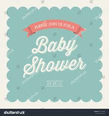Baby Shower Invitations That Can Be Edited Baby Shower Invitation Card Editable Type Stock Vector Royalty Free
