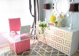 pink home office. home office inspiration a touch of pink