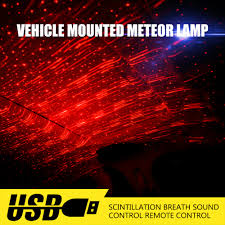 Red Light Night Lamp Us 6 35 30 Off Led Night Lights Usb Red Led Projector Light Interior Light Atmosphere Ambient Lamp Sky Type For Home Car Starry Sky Meteor In Led