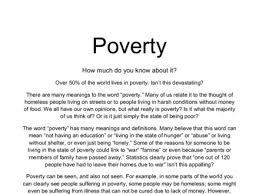 Essays On Poverty Rome Fontanacountryinn Com