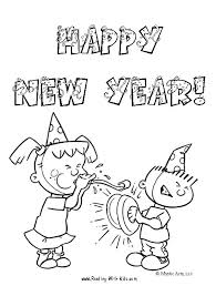 Small Picture Free New Years Eve coloring pages and learning activities