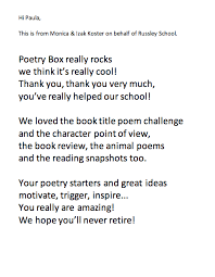 A Poem Letter To Poetry Box Poetry Box