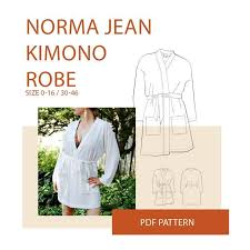 Kimono Robe Pattern Gorgeous Kimono Robe Sewing Pattern Wardrobe By Me PDF Sewing Pattern
