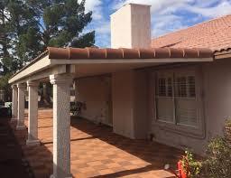 solid lattice combination patio covers stucco post