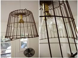 Top Diy Wire Basket Lights The Merrythought About Basket Light Fixture Plan  | primedfw.com
