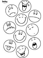 Kleurplaat Emoticons