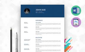 My Info Resume Template Word Psd Resummme Com