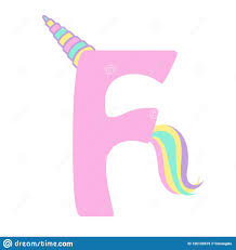 F P Lexile Conversion Chart Cute Unicorn Letter F Design Stock Vector Illustration Of