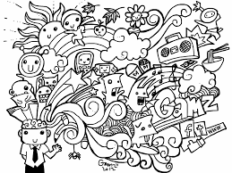 Small Picture Doodle Art Printable Coloring Page Enjoy Coloring Doodles Coloring