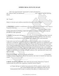 Also, you will need the commercial lease agreement template for that too. Free Simple Real Estate Lease Free To Print Save Download