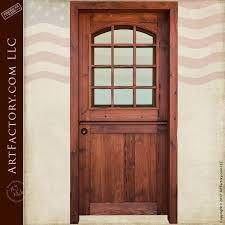 custom dutch door solid wood entry