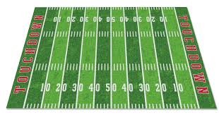 football field rug in new england patriots 2017 super bowl