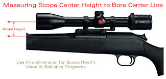 Determining Scope Height Above Bore Within Accurateshooter Com