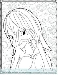 Heart Coloring Pages For Girls Small U Love Printable Pdf